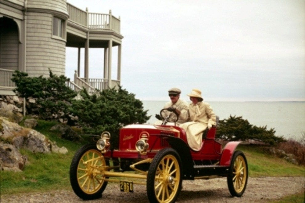 A Stanley Steamer from the Wells Auto Museum.