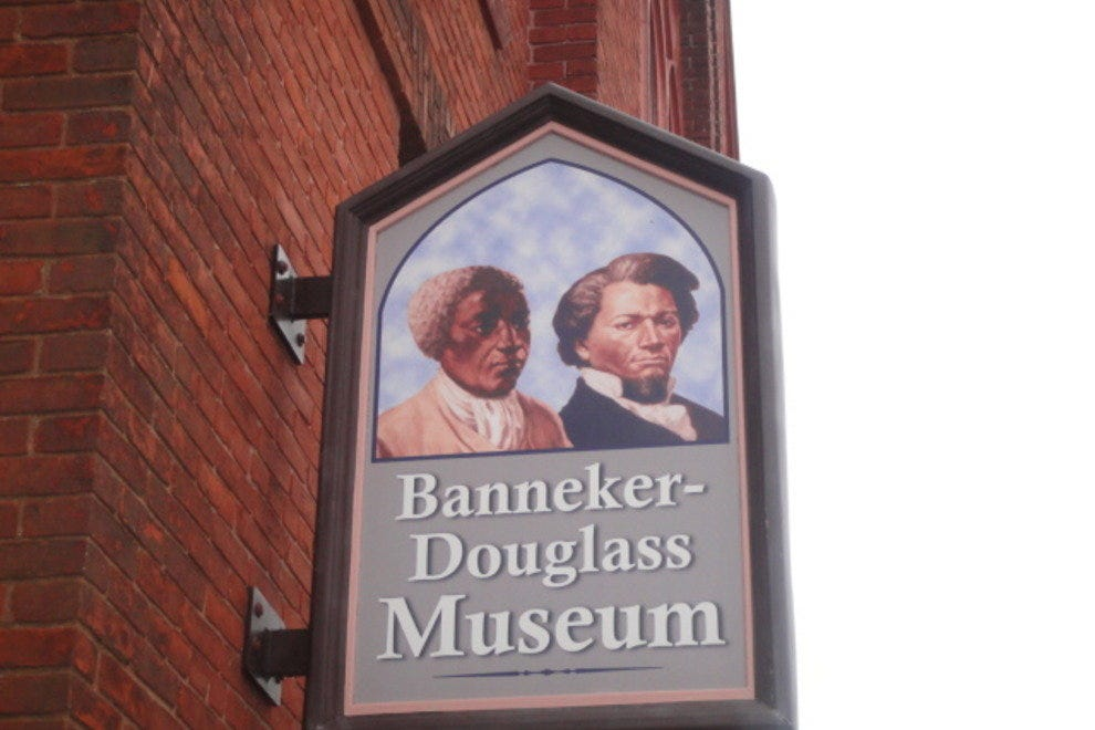 Sign for Bannekar-Douglass Museum