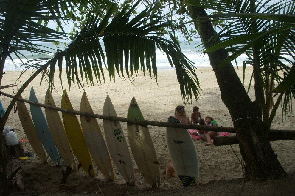 Surfboards at Cocles Beach