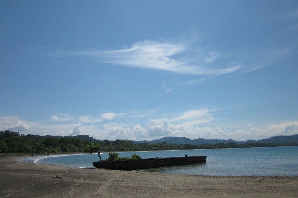 Barge in Playa Negra, Puerto Viejo