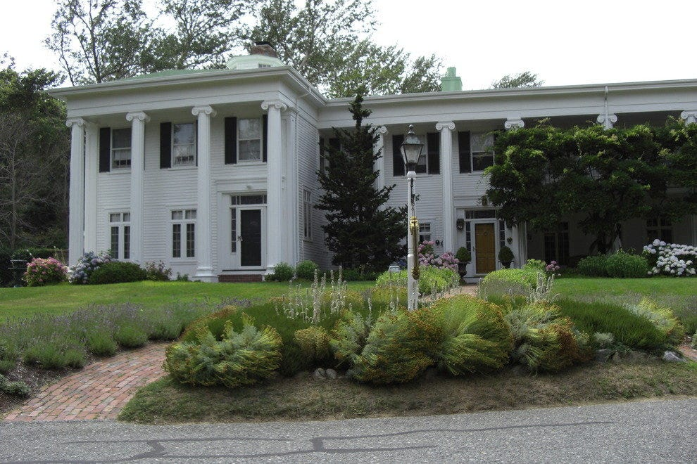 The stately exterior of the Captain Linnell House