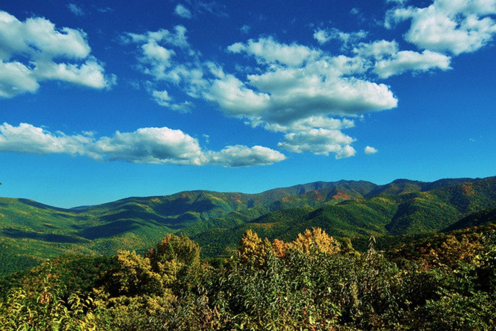 View from the Blue Ridge Parkway near Waynesville NC