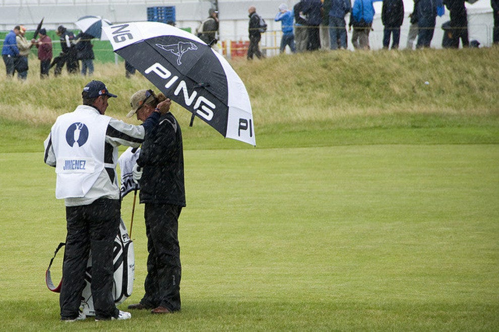 Miguel Angel at Royal Birkdale in the rain