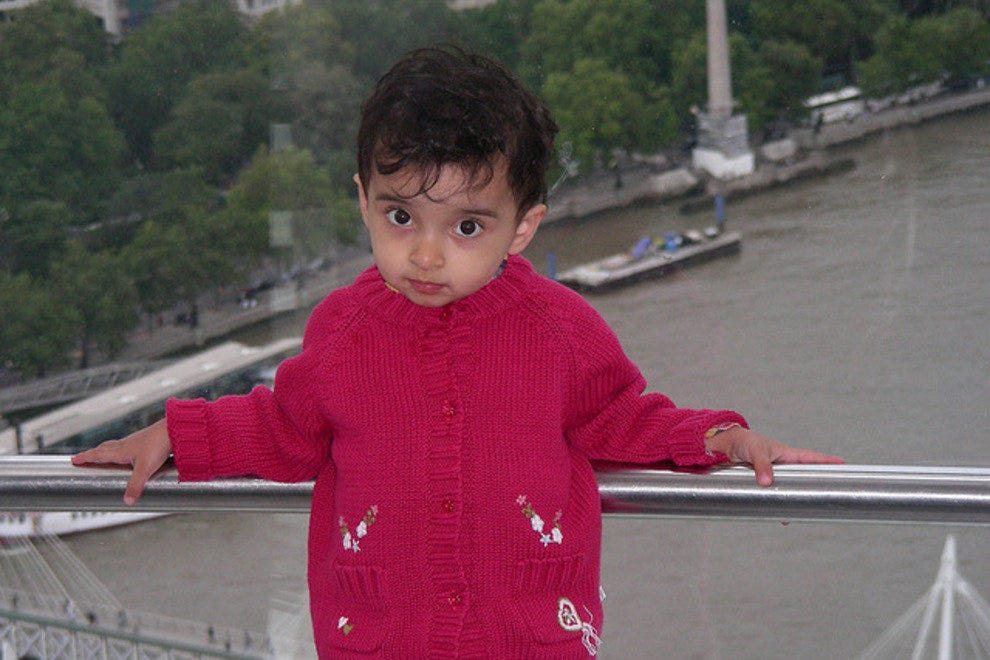 Ayesha on the London Eye