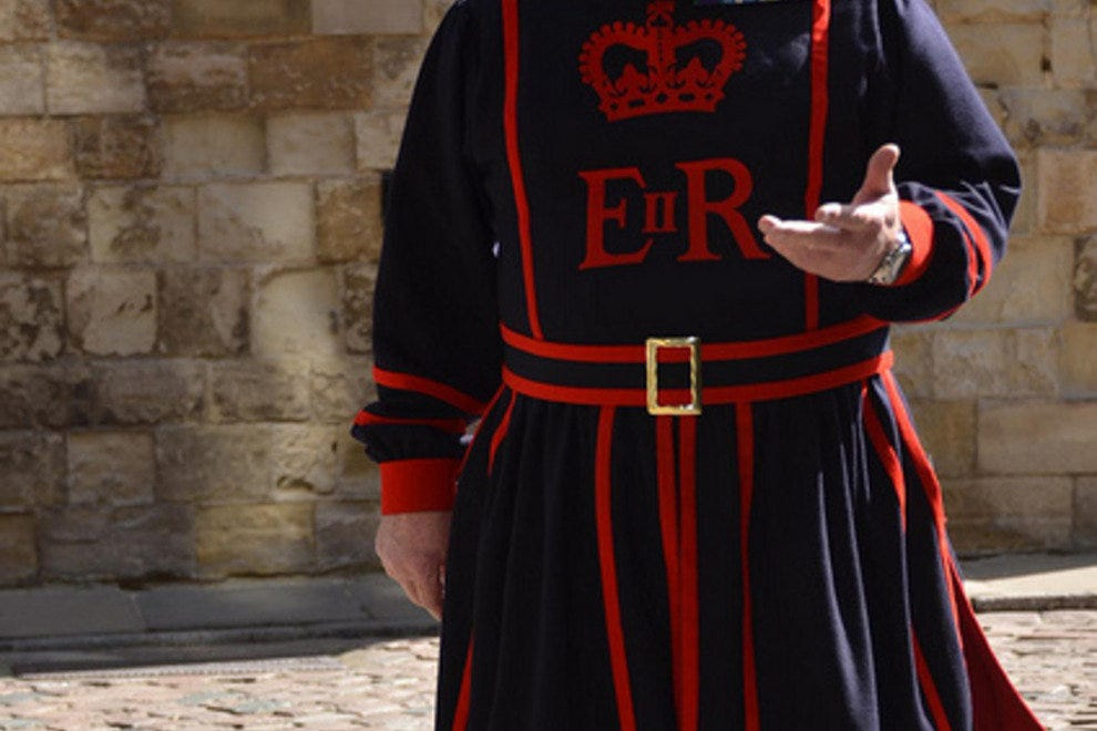 A Beefeater at the Tower of London