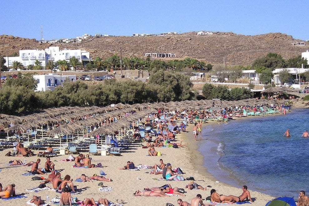 Paranga Beach in Mykonos