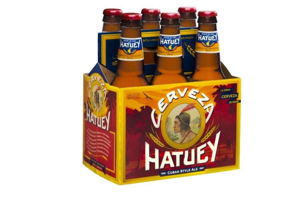 Hatuey Beer, made and distributed in South Florida