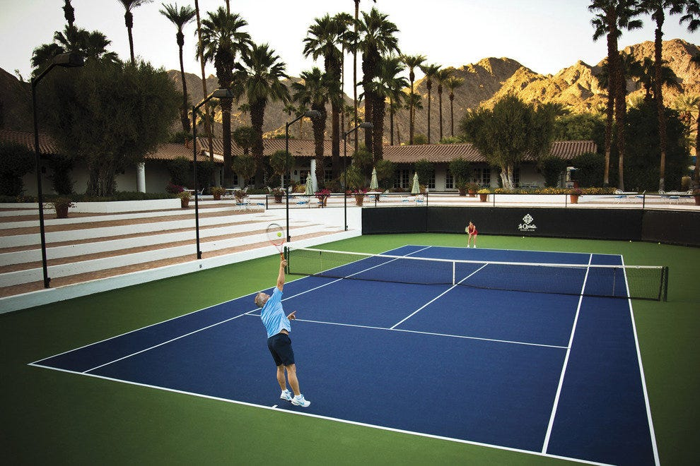 Tennis Match in Palm Springs, Ca