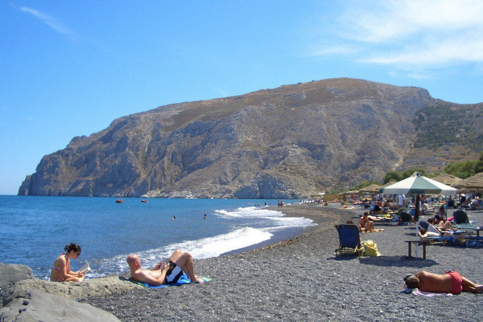 Black Sand Beaches of Santorini, Greece