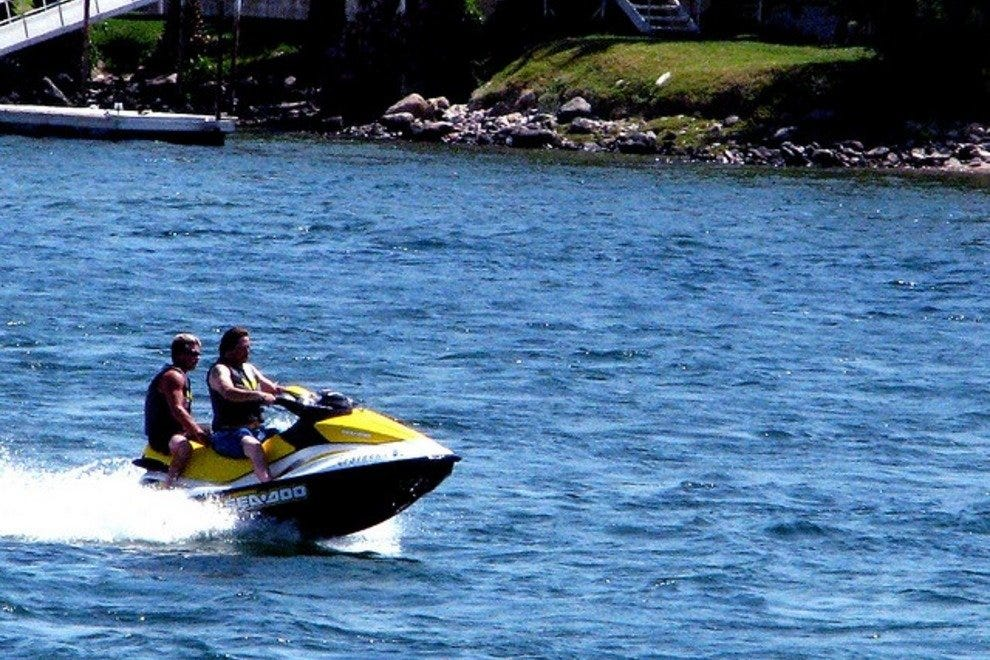 Take advantage of watersports like skiing, tubing, and wakeboarding