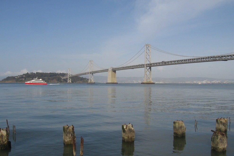 View of the Bay Bridge from the Embarcadero