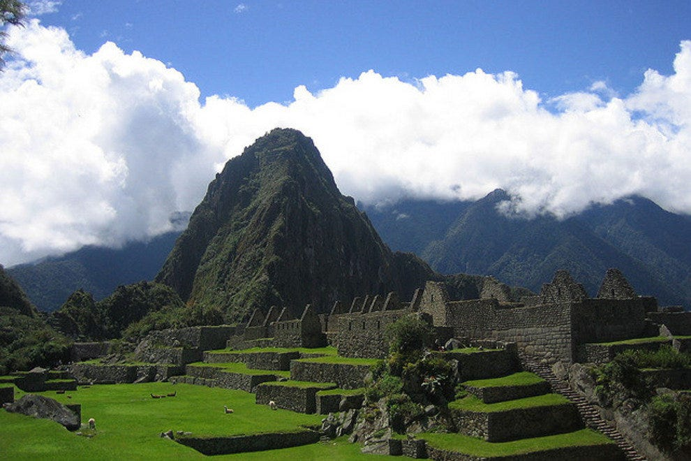 The ruins of Machu Picchu on the Inca Trail