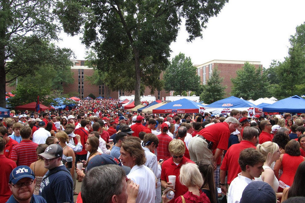 Tailgating at the Grove in Oxford, Mississippi