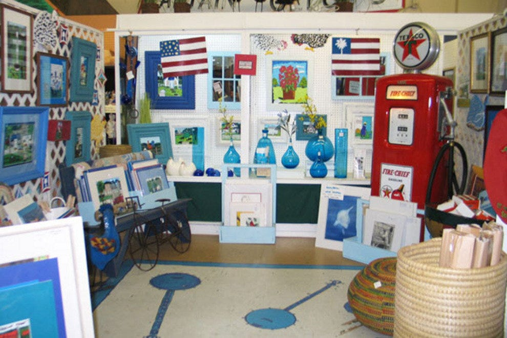 Fordham Market vendors such as the Blue Banjo offer a variety of eclectic merchandise.