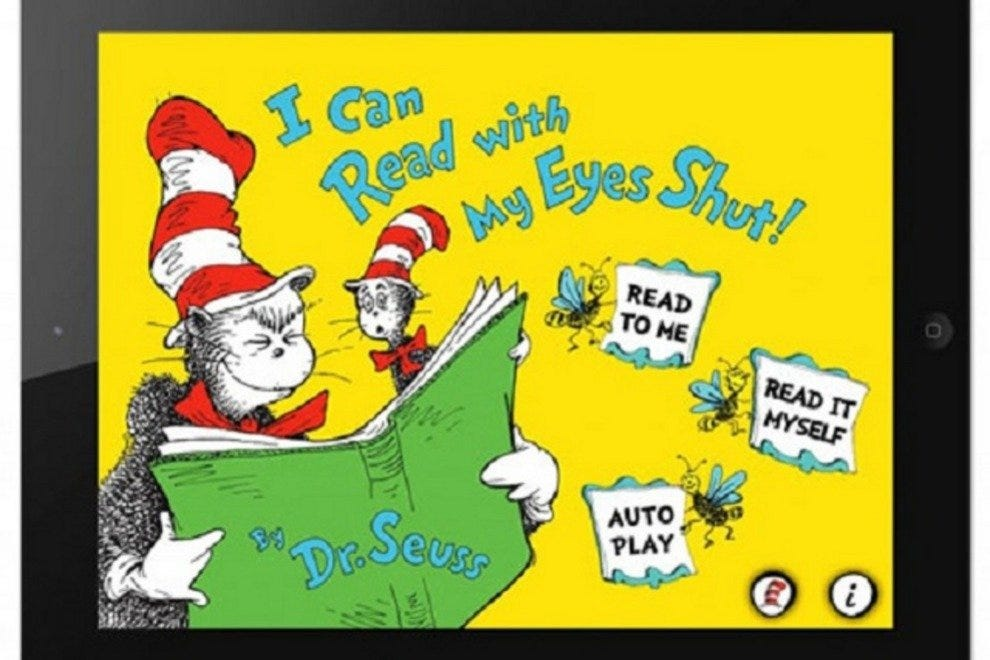 Dr. Seuss, I Can Read With My Eyes Shut, App