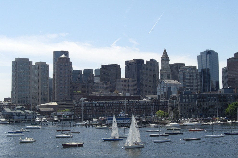 View of Boston from the Deck