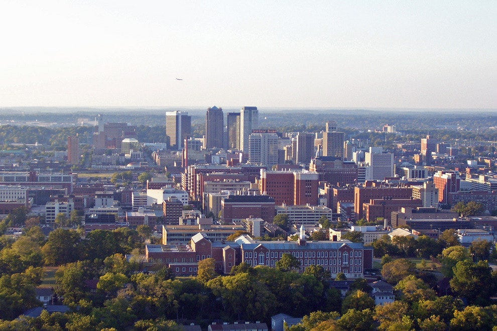 View of Birmingham from Vulcan's observation deck