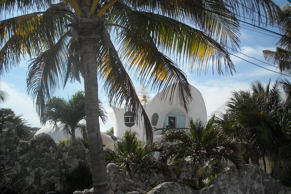 "The ""seashell house"", one of Isla Mujeres' most photographed landmarks, is a house shaped like a conch shell."