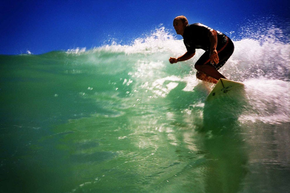 Surfing Koel Bay
