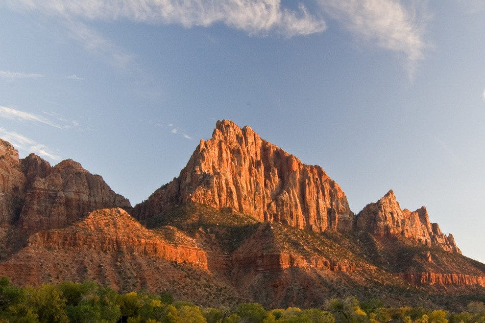 The Watchman is one of the best known peaks in Zion