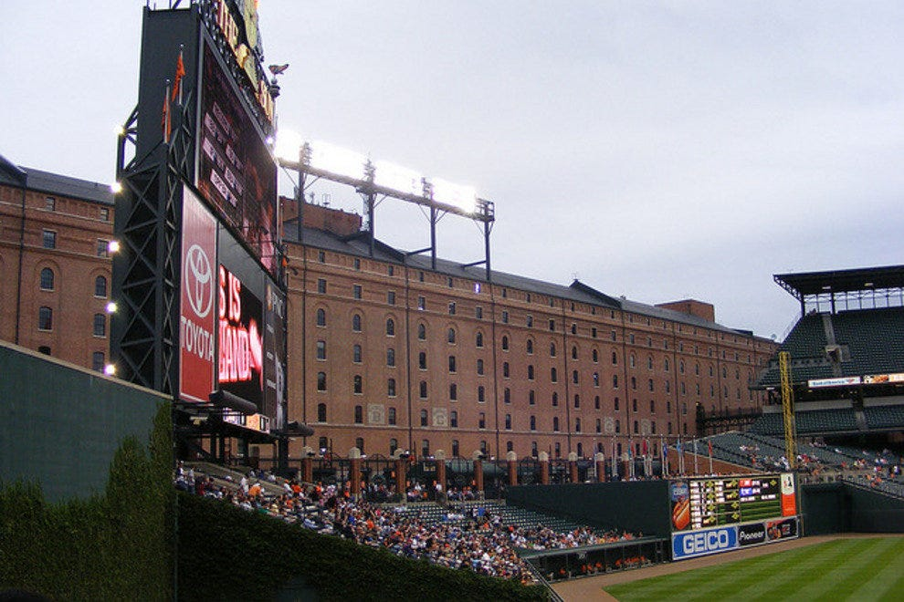 The old B&O Warehouse in right field at Camden Yards