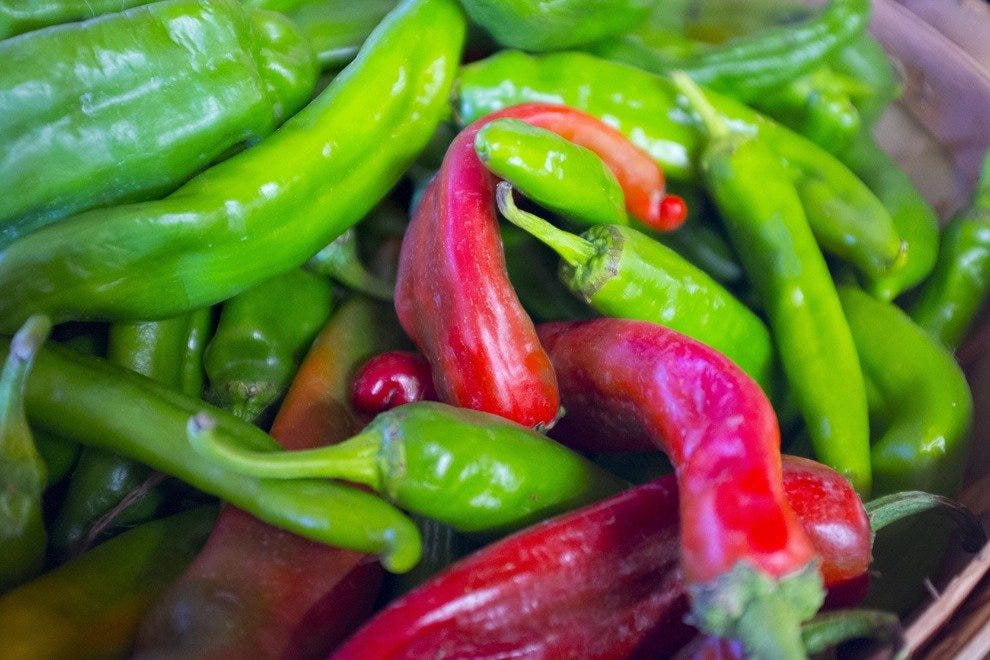 Chiles turn red when ripe