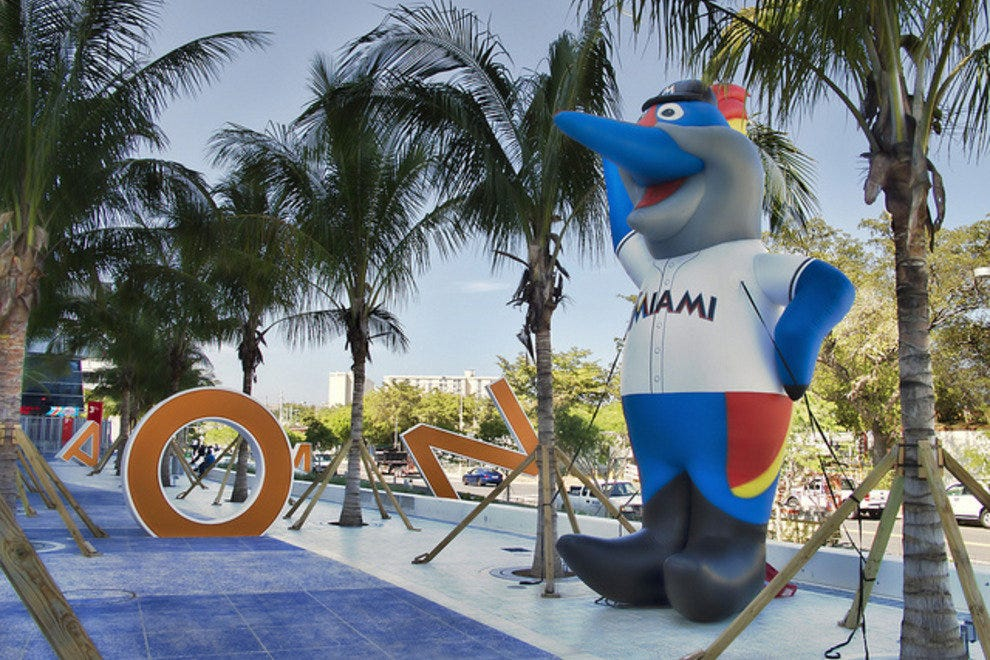 Billy the Marlin outside Marlins Park