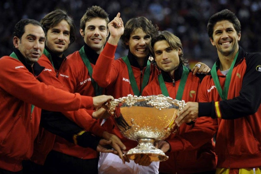Team Spain, winner of the 2011 Davis Cup