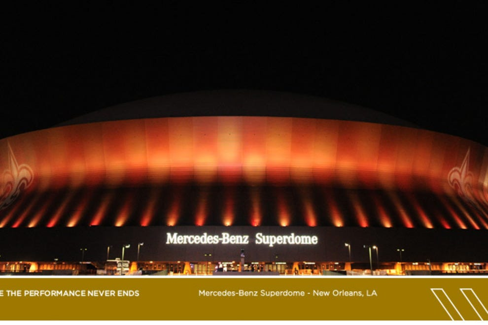 Mercedes benz superdome new orleans attractions review for Mercedes benz superdome new orleans la