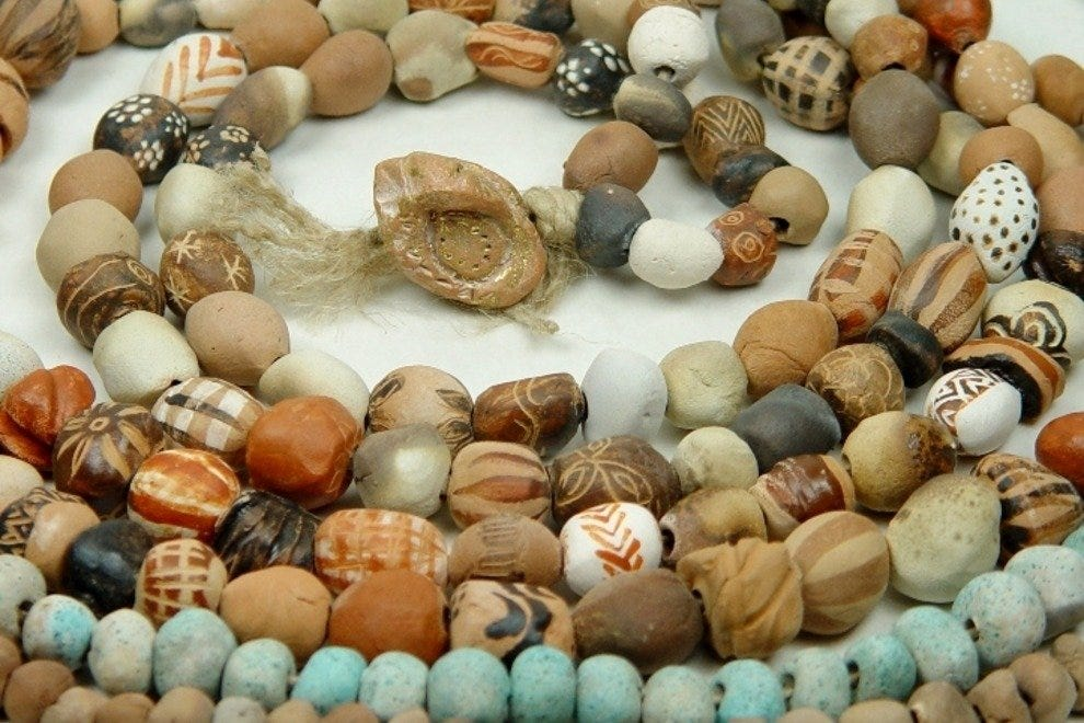 Beads inspired from ancient Greek art