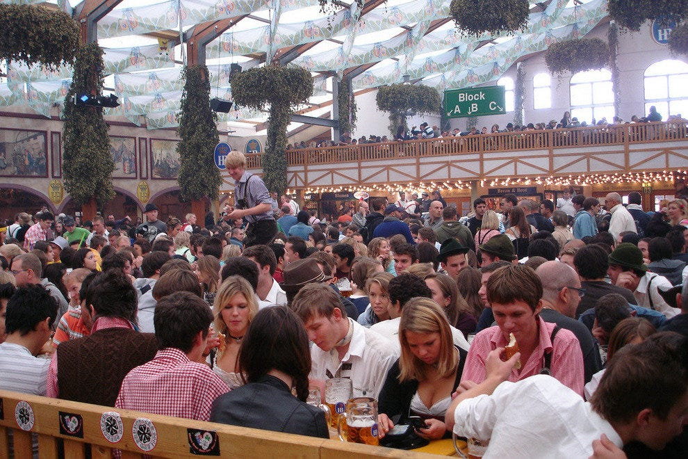 Munich Oktoberfest beer hall