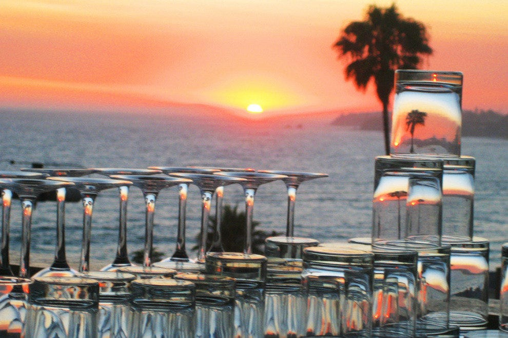 Sunset from Laguna Beach Rooftop Lounge