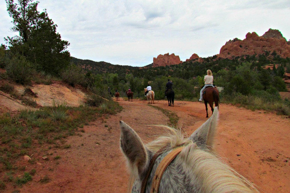 Horseback Riding in Garden of the Gods