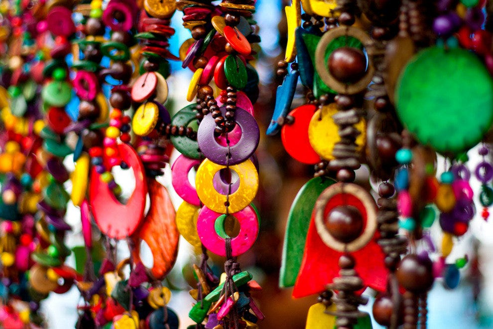 The Hippy Fair is the place to come for beads, bags and accessories