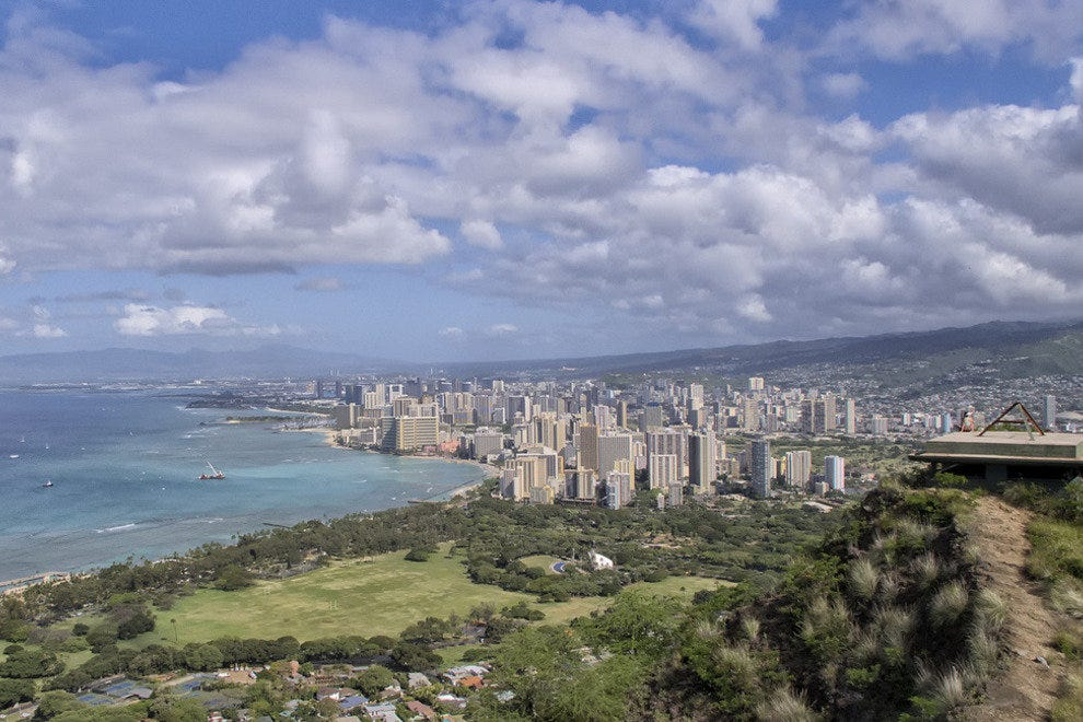 Honolulu, as seen from Diamondhead