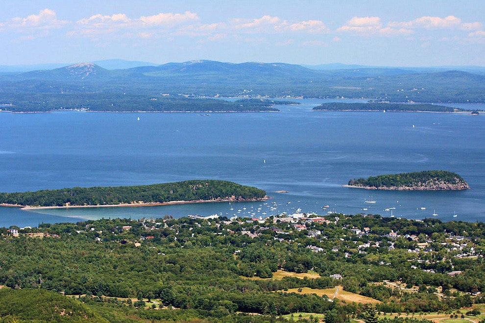 Bar Harbor as seen from Cadillac Mountain
