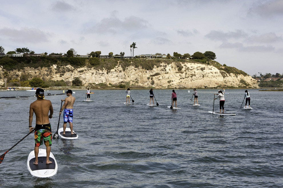Paddle Boarding, Orange County, California