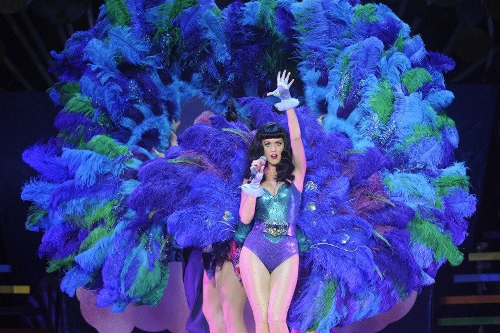 Katy Perry will be joining other A-listers Maroon 5 and Noel Gallagher in entertaining the post-race crowds
