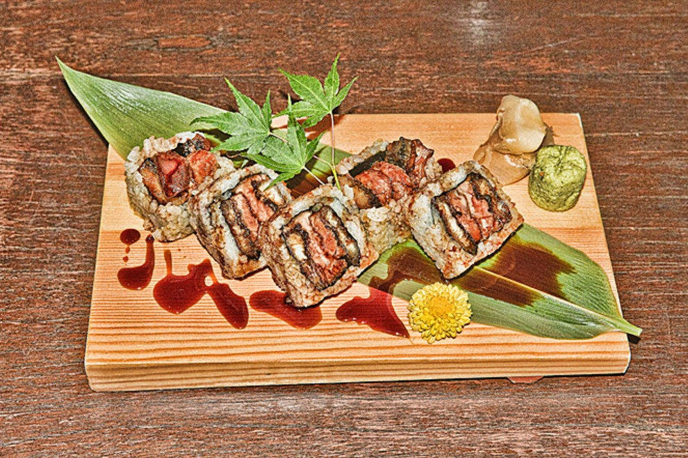 Unagi roll with foie gras