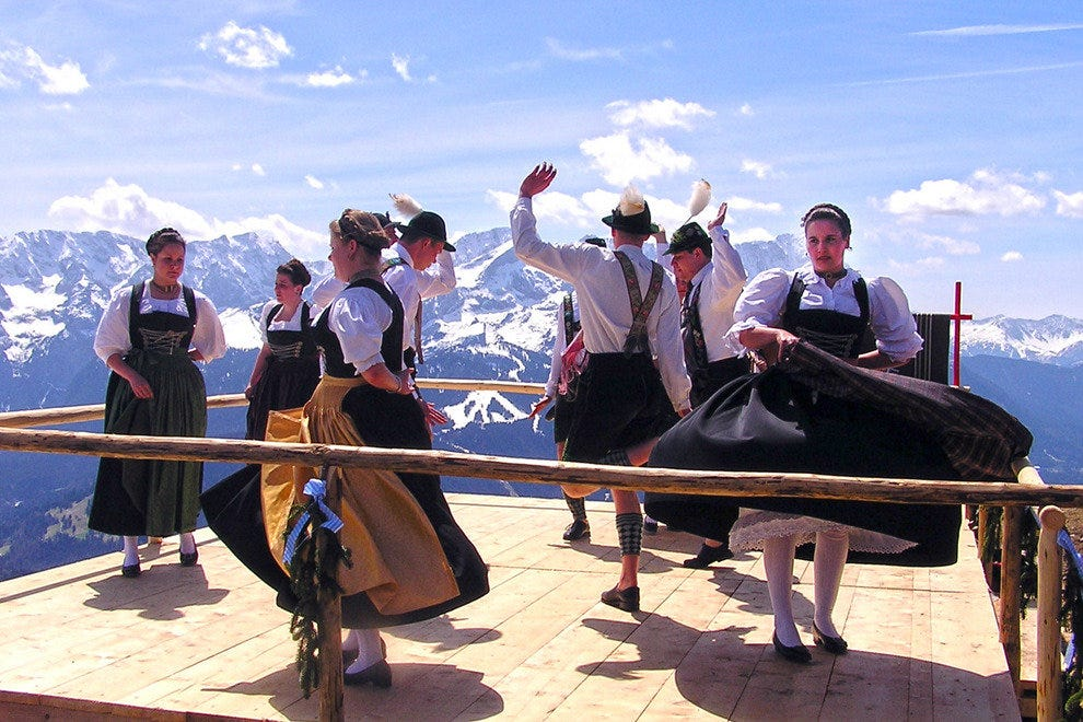 Folk Dancers of Garmish-Partenkirchen, Bavaria, Germany