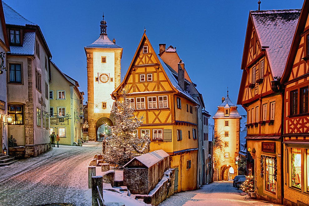 Step Back into the Middle Ages on the Streets of  Rothenburg