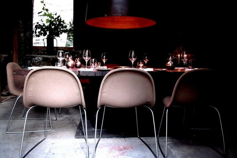 Private dining space at Timberyard