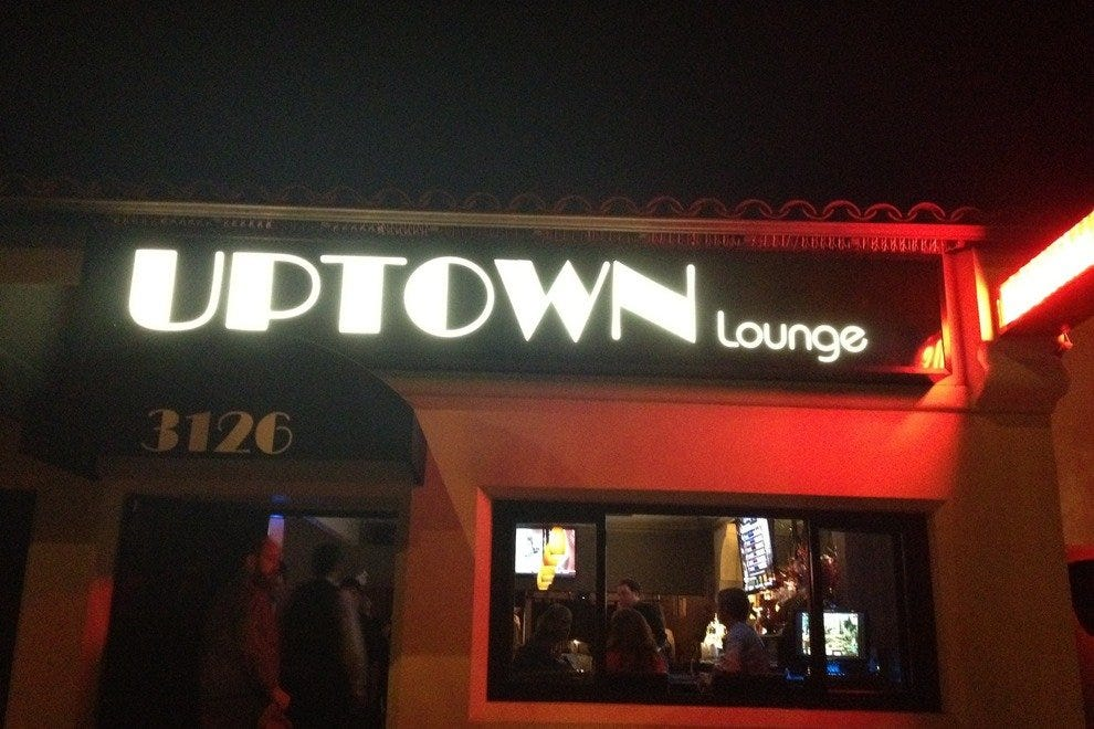 The Uptown Lounge lighting up a Friday night