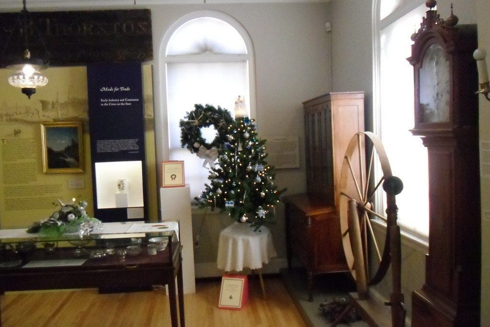 The Saco Museum near the holiday season
