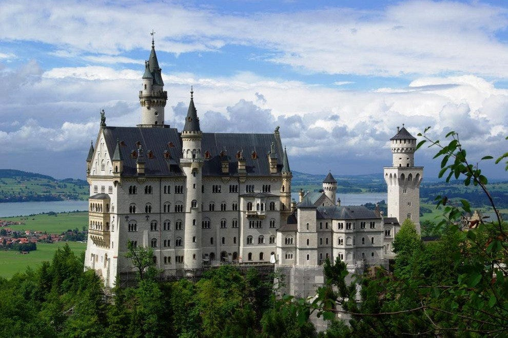 Neuschwanstein Castle just outside of Munich, Germany