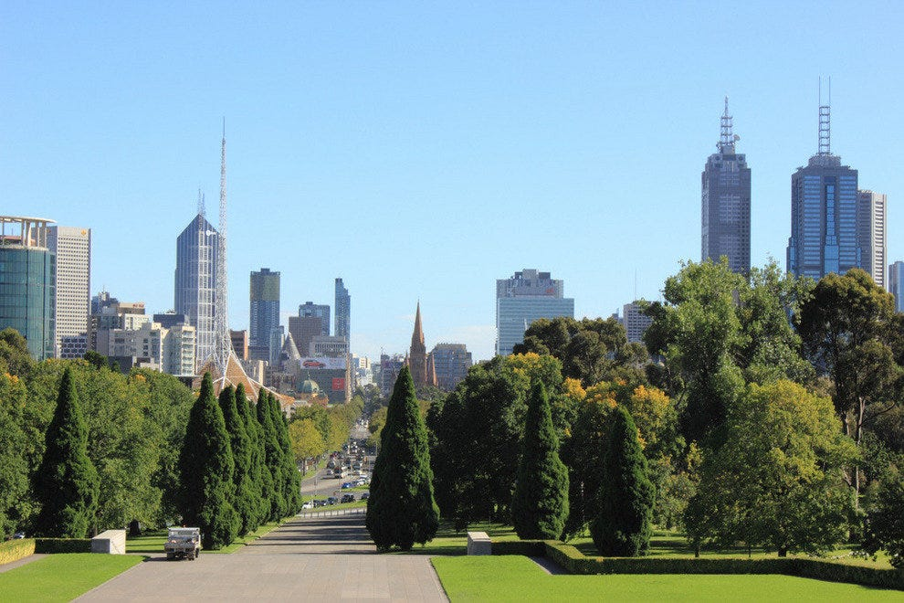 View from the Shrine of Remembrance