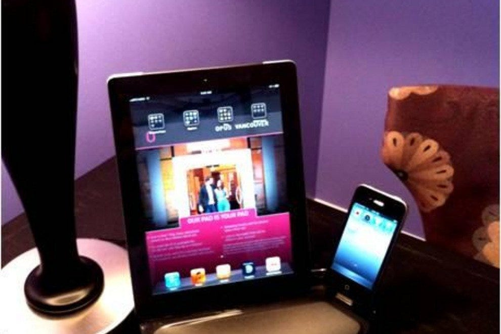 iPad and iPhone docking station at OPUS