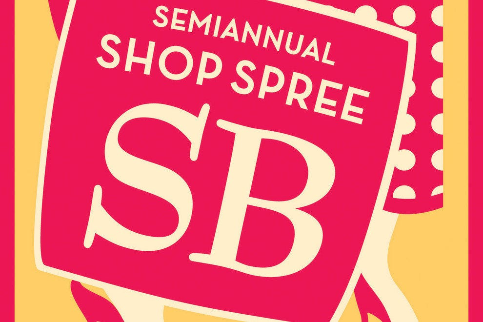 The semiannual Shop Spree SB event is a favorite of locals and visitors alike.