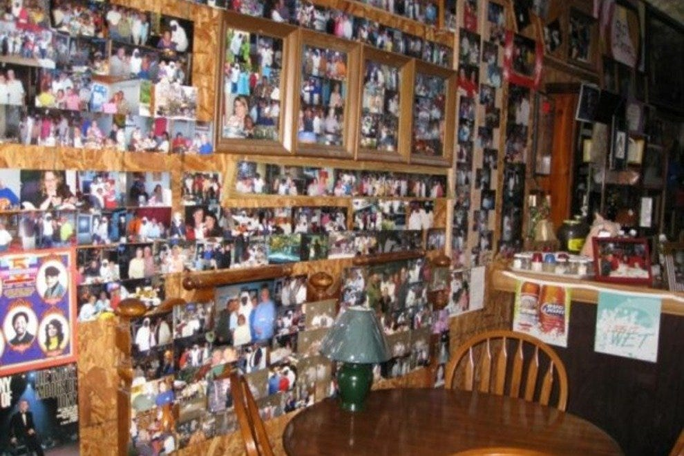 Guests could spend hours looking at photos and memorabilia on the Old School Diner's walls
