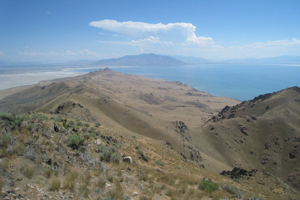 Antelope Island and the Great Salt Lake from Frary Peak